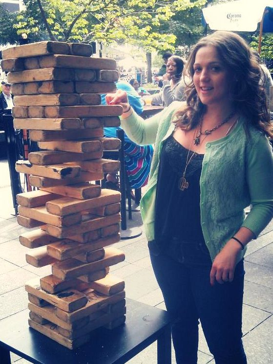 Lindsay Tabas Playing Jenga Building Engineering Things
